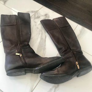 Franco - Long Leather Boots for Women